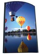 Digitaldruck auf tarnsparenter Folie oder auf milchig-transparenter Folie für Leuchtdisplays