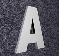 gefräste Buchstaben aus PVC (Hartschaumplatte)